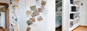 mosaico personalizzato contemporaneo in casa soluzione unica d'arredo