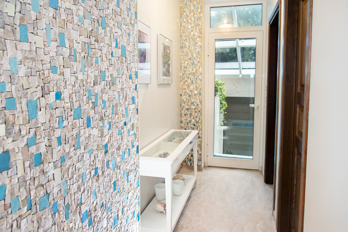 architettura in mosaico artistico per pareti