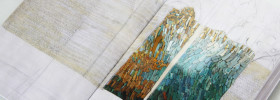 artist books in micromosaic by Laura Carraro