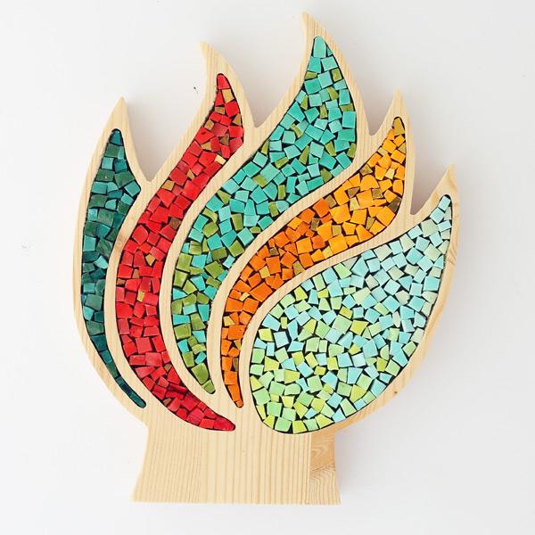 oggetti mosaico a forma di albero