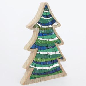 alberi di natale originali in mosaico