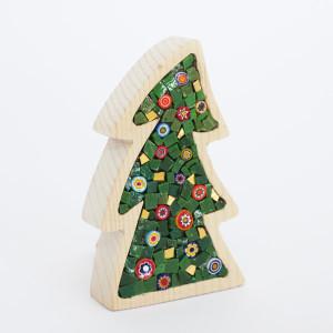regali di Natale 2017: gli alberi in legno e mosaico