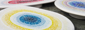 dettaglio mosaic centerpiece udine design week