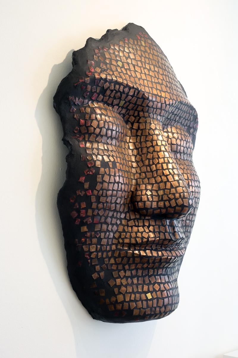 opere scultura e mosaico mostra personale mohamed chabarik