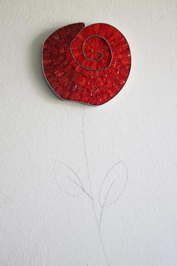 fiori in mosaico